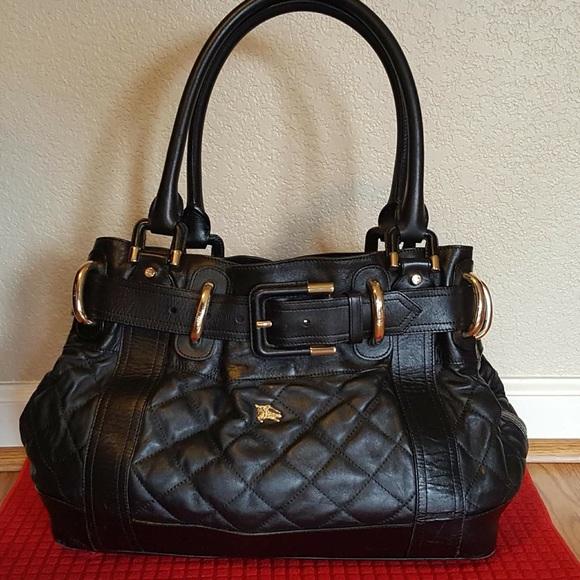 362369ec6af Burberry Bags   Black Leather Bag   Poshmark